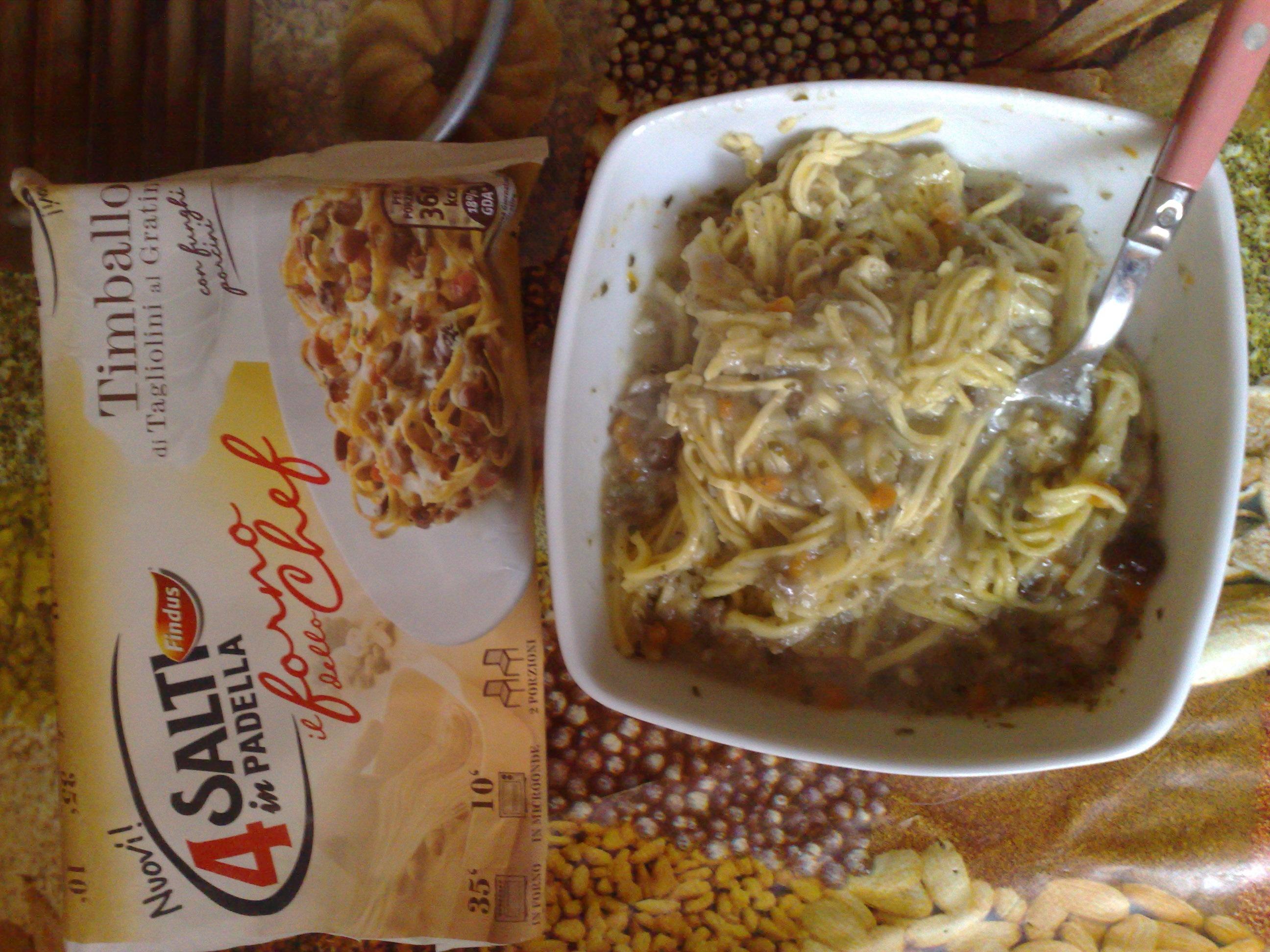 4 salti in padella findus timballo di tagliolini al for Cucinare 4 salti in padella